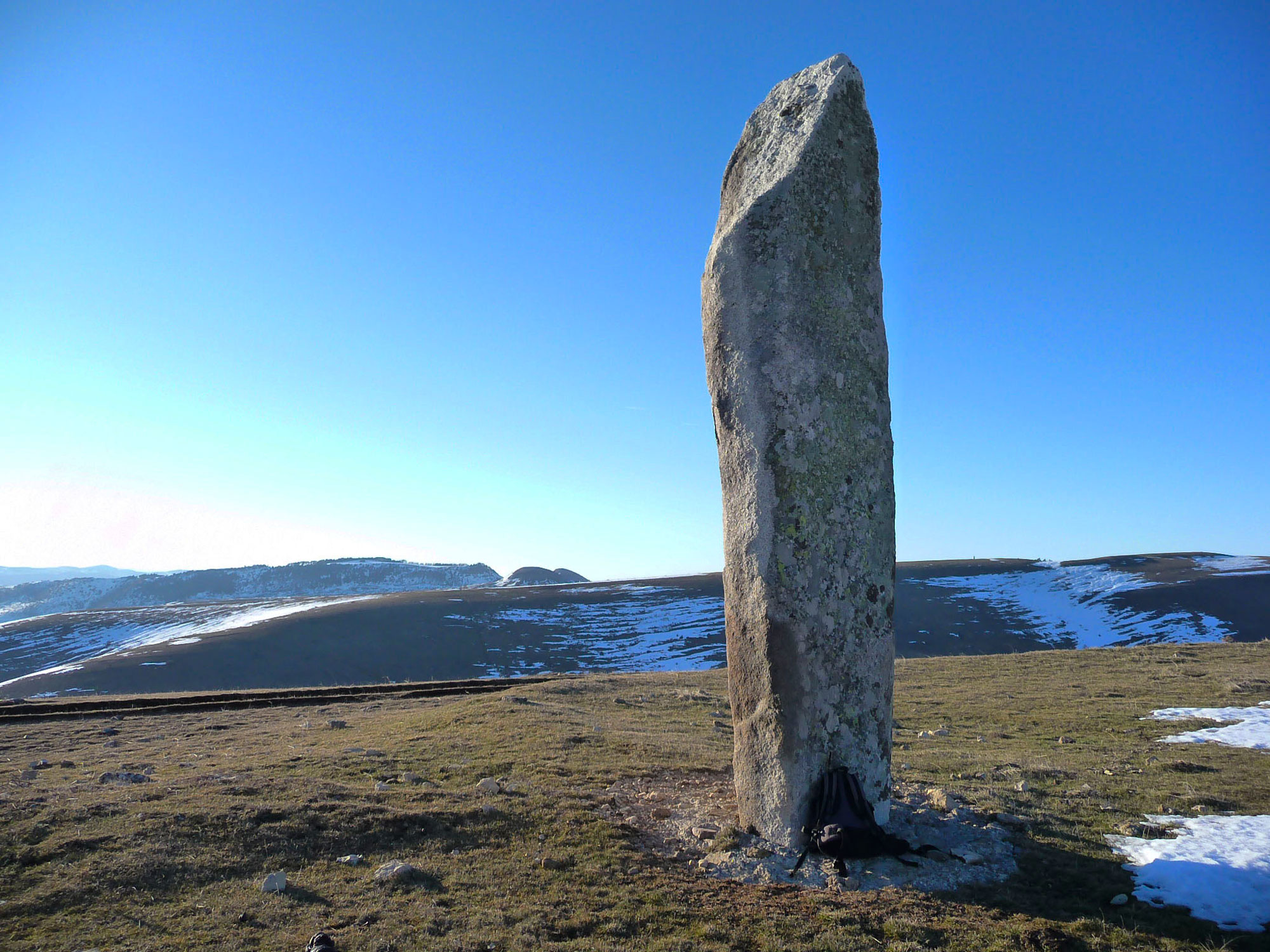 Site mégalithique de la Cham des Bondons sur le Mont-Lozère